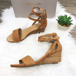 [Franco Sarto] NWT One Band Suede Wedge Sandals